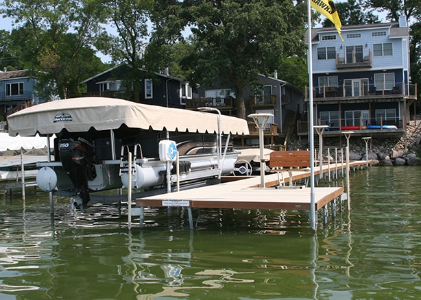 Shorestation Pontoon Boat Lift