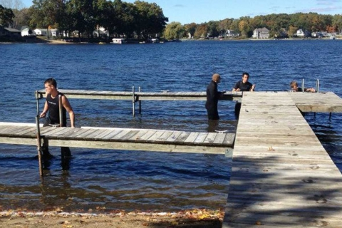 Never Too Late for Summer Dock Installation